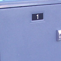 bike lockers options Part-No-020-Number-plates-model-301-gray-t-handle-3