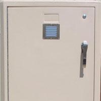 bike lockers options Part-No-030-Vents-Model-301-tan-Padlock