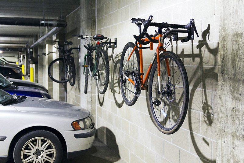 How To Hang Bike On Wall standard bike racksamerican bicycle security company
