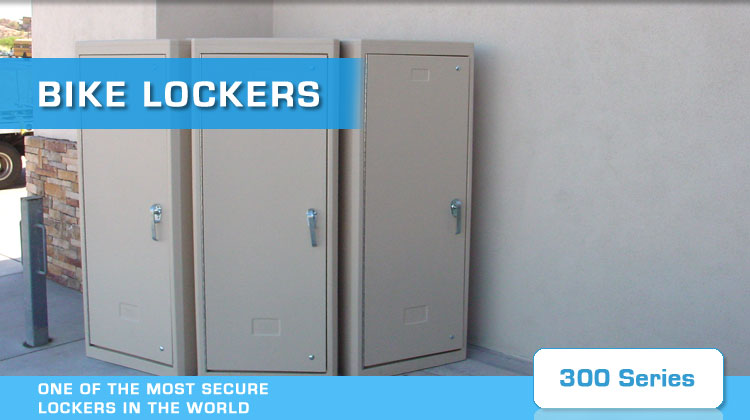 american bicycle security bike lockers 300 series