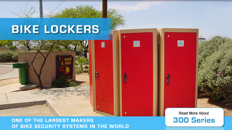 bike lockers 300 series by american bicycle security company