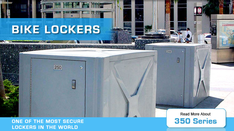 bike lockers 350 series by american bicycle security company
