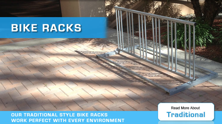 traditional bike racks by american bicycle security